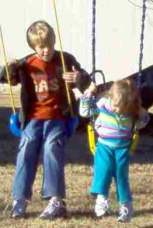 Austin swinging Gracie